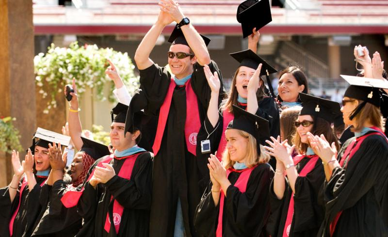 School of Education graduates at 2007 Commencement.Linda A. Cicero/Stanford News Service