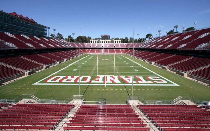 Photo of the Stanford stadium from the end zone.